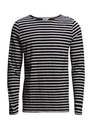 M. Cotton Slub Stripe - Navy/Ivory