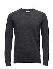 M. Cotton Merino Sweater - DK. GREY M
