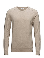 M. Cotton Merino Sweater - LIGHT BEIG