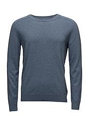 M. Cotton Merino Sweater - LT. BLUE M