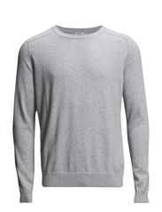 M. Cotton Merino Sweater - Ivory Mel.