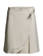 Wrap Pleat Skirt - Cream