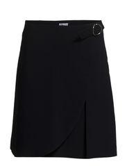 Wrap Pleat Skirt - Navy
