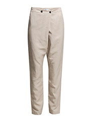 Tencel Linen Wrap Pants - Angel