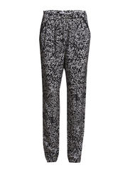 Print Fay Belt Pants - Black/Whit
