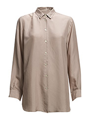 Drapey Boyfriend Shirt - Dusty Pink