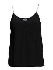 Silk Strap Top - Black