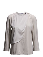 Multi Layer Silk Blouse - Blush