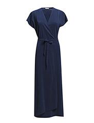 Wrap Silk Dress - Cyber