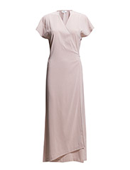 Wrap Silk Dress - Dusty Pink
