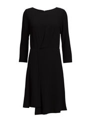 Drapey Pleat Dress - Black