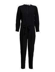 Belt Pant Suit - Black/Blac