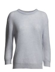 Mohair Rib Pullover - Crystal