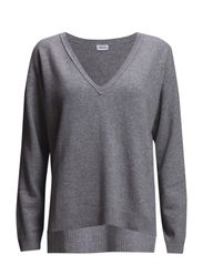 Cashmere V-Neck - Light Grey