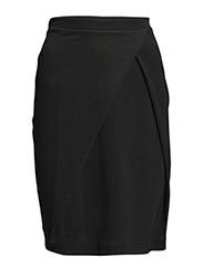Front Pleat Skirt - Black