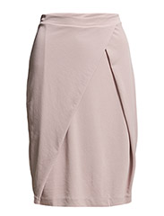 Front Pleat Skirt - Dusty Pink