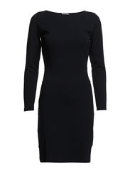 Fitted Jersey Dress - Navy