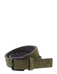 M. Suede Leather Belt - ARMY