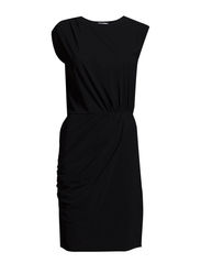 Drapey Shift Dress - Black