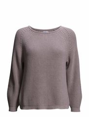 Cropped Rib Pullover - Angel