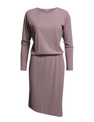 Assymetric Jersey Dress - Dusty Pink