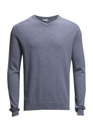 M. Cotton Merino V-Neck - Breeze Mel