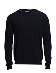 M. Cotton Merino V-Neck - Navy