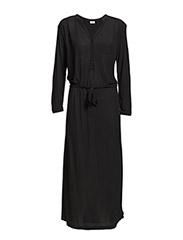 Rib Crepe Dress - Black
