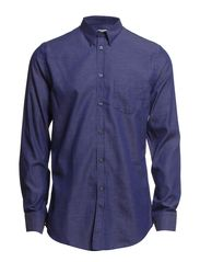 M. Paul Micropattern Shirt - Navy