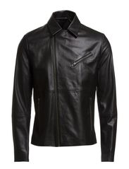 M. Robert Leather Biker - Black