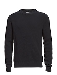 M. Tuck Knit Sweater - NAVY
