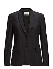 Gracie Pinstripe Suit Jacket - Navy