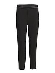Jade Crepe Satin Pants - Black