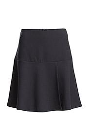 Flared Wrap Skirt - Navy