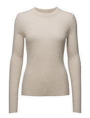 Slim Rib Knit Top - PORCELAIN