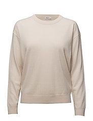 Merino R-neck Pullover - BONE