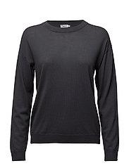 Merino R-neck Pullover - IRON