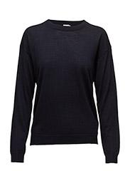 Merino R-neck Pullover - NAVY