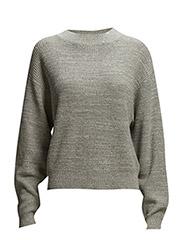 Melange Knit Pullover - Grey Mel.
