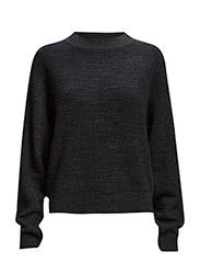 Melange Knit Pullover - Navy Mel.