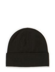 M. Plain Knit Wool Hat - Black