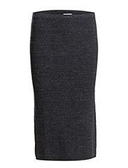Melange Knit Skirt - Navy Mel.