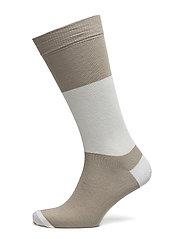 M. Cotton Block Sock - CHERT GREY
