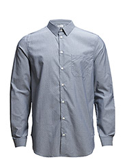 M. Phillip Striped Cotton Shir - NAVY/WHITE