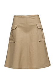 Cotton Linen Pocket Skirt