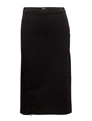 Split Pencil Skirt - BLACK