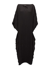 Poncho Plise Dress - BLACK