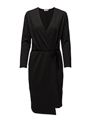 Jersey Wrap Dress - ANTRACITE