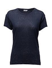 Linen T-shirt - BRIGHT NAV