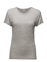 Linen T-shirt - LIGHT GREY
